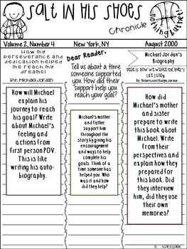 Salt in his Shoes : Newspaper Creative Writing Activity& Growth Mindset