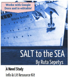 Salt to the Sea by Ruta Sepetys -- NOVEL STUDY - Google Dr