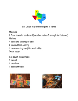 Saltdough Map of Texas Recipe and Directions by FAB in 4th | TpT