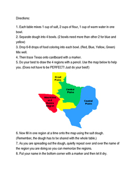 salt map of texas Saltdough Map Of Texas Recipe And Directions By Fab In 4th Tpt