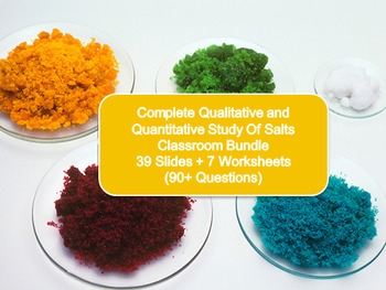 Salts Bundle! (39 Slides + 7 Worksheets with 90+ Questions and Answers)