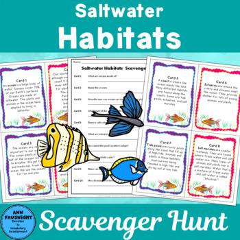 Saltwater Habitats Scavenger Hunt