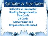 Saltwater VS. Freshwater Reading Comprehension Task Cards (28)