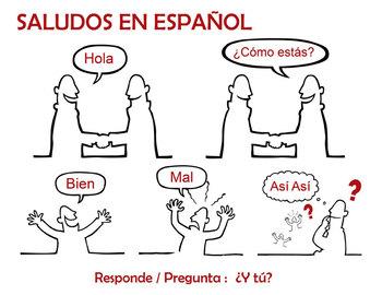 Saludos y Despedidas en español  | Basic Spanish Conversation Handouts