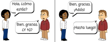 Saludos / Greetings in Spanish; Goodbyes; Introductions (Me llamo...)