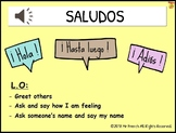 Saludos & Nombre (Spanish Greetings & Name) 3 Lessons! Y3-Y6 (2nd-5th Grade)