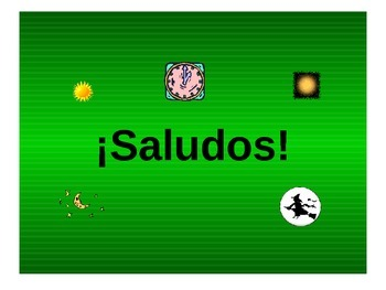 Teaching Resources.¡Saludos! Spanish Greetings PowerPoint
