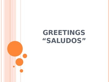 Saludos and Despedidas Powerpoint