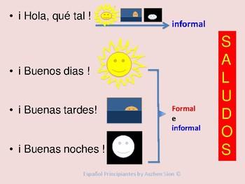 Saludos en español - Greetings in Spanish