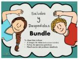 Saludos y Despedidas, Bundle 4 Juegos, Planificación y Fichas de actividades.