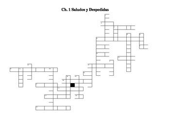 Saludos y Despedidas Crossword Puzzle