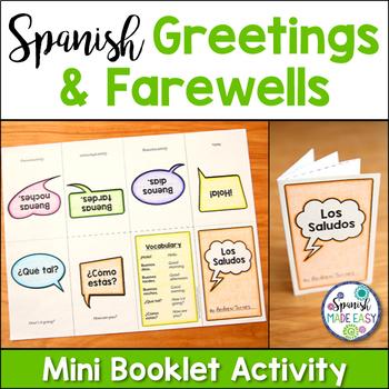 Saludos y Despedidas (Greetings and Farewells) Mini Booklet Activity