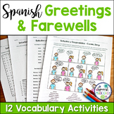 Saludos y Despedidas (Greetings and Farewells) Spanish Vocabulary Activities