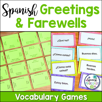 Saludos y Despedidas (Greetings and Farewells) Vocabulary Games