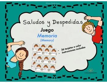 Saludos y Despedidas, Juego Memoria en español.  Spanish Memory game
