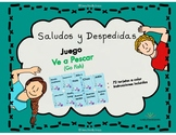 Saludos y Despedidas, Juego Ve a Pescar, en español.  Span