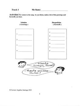 Saludos y Despedidas: Song and Activity packet
