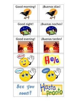 Saludos y Despedidas Spanish Greetings and Goodbyes Matchi