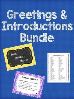 Saludos y introducciones / Greetings and Introductions Bundle
