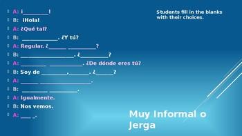 Spanish Greetings and introductions drills Saludos y presentaciones