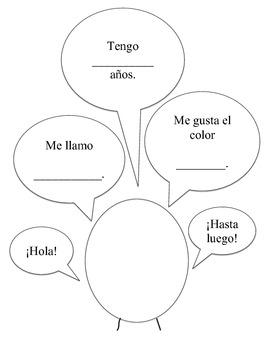 Saludos/Greetings Graphic Organizer Easy & Advanced Options