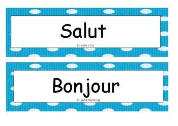 Salutations en français