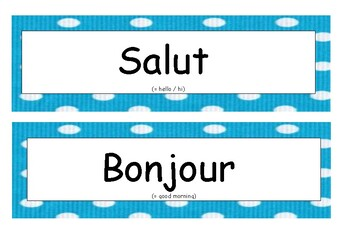 Salutations en français / Greetings in French