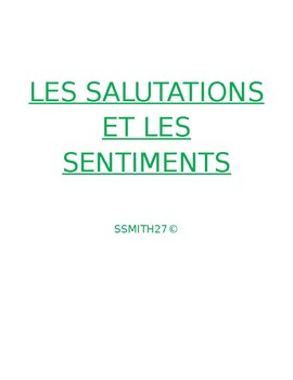 Salutations et Sentiments