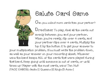 Salute! Multiplication Game