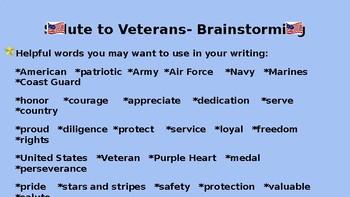 Salute to Veterans Writing