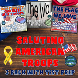 Saluting Our Troops 3 Pack Read Aloud w/ Test Prep {Veterans Day, Memorial Day}