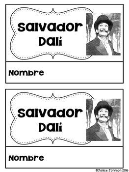 Salvador Dalí Reader Organizer, & Timeline {En español}