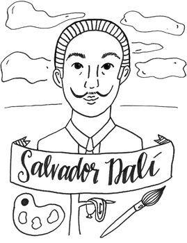 Salvador Dali Art History Printable Coloring Sheet Coloring Page By Kdcurbie