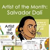 Salvador Dali Artist Portrait, Quote, and Handout/Distance Learning Lesson