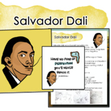 Salvador Dali Artist Portrait, Quote, and Handout/Distance