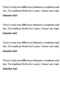 Salvador Dalí Handout
