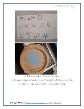 Salvador Dali Melting Clocks Art lesson K 6th Grade Art History Common Core