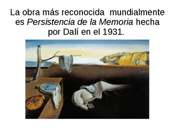 Salvador Dalí PPT in Spanish