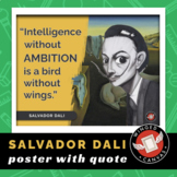 Salvador Dali Art History Poster - Famous Artist Quote