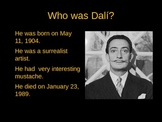 Salvador Dali PowerPoint (Bilingual)