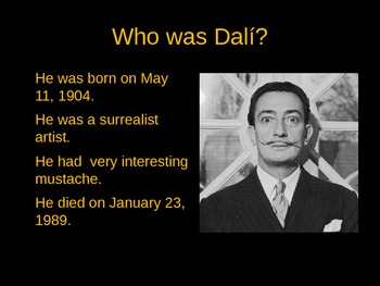 Salvador Dali PowerPoint (Bilingual)