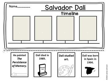 Salvador Dalí Reader Organizer, & Timeline {English Version}