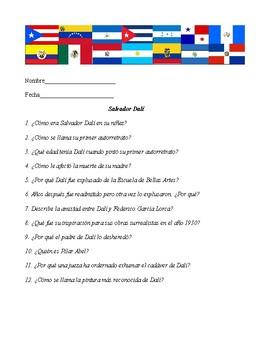 Salvador Dalí Webquest in Spanish + PPT in Spanish