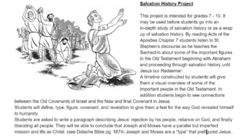 Salvation History Project