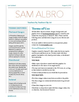 Sam Albro Clip Art License