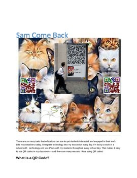 Sam Come Back Concepts with Q.R.Codes