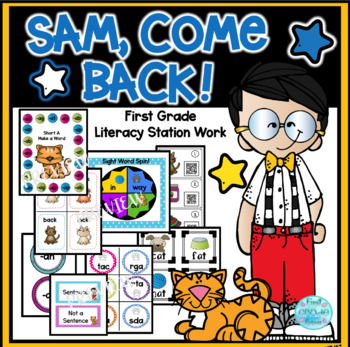 Sam, Come Back! Interactive Literacy Stations