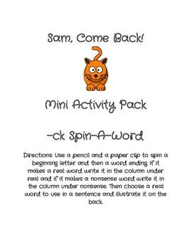 Sam Come Back! Mini Pack
