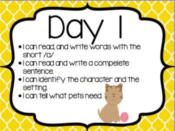 Sam Come Back Reading Street First Grade Unit 1: Week 1: Day 1 Flipchart