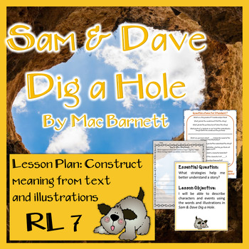 Sam & Dave Dig a Hole Lesson Plan for Standard 7